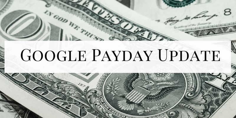 Google Payday Update