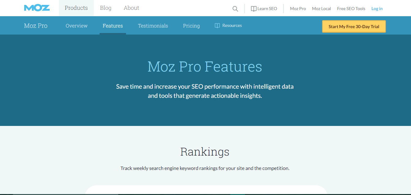 MOZ for Website Auditing