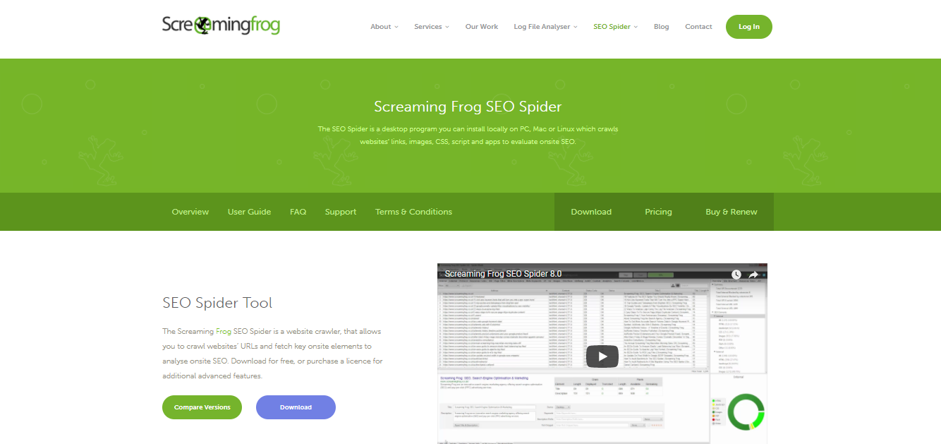 ScreamingFrog for SEO Audits