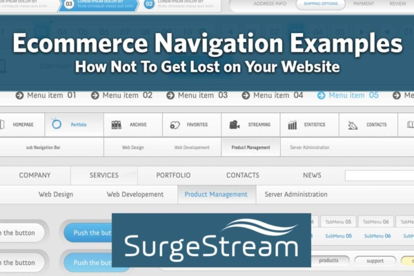 Ecommerce Navigation Examples