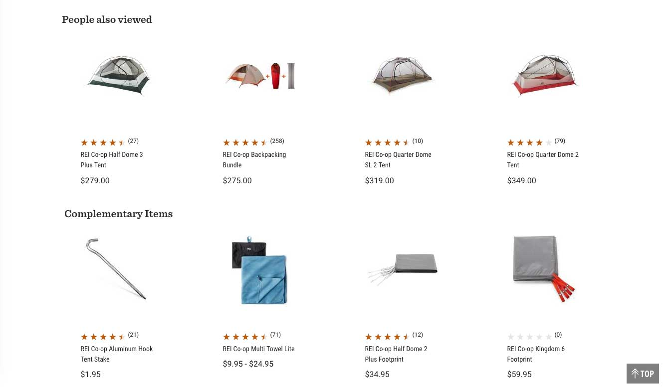 Ecommerce Related Products Example 2
