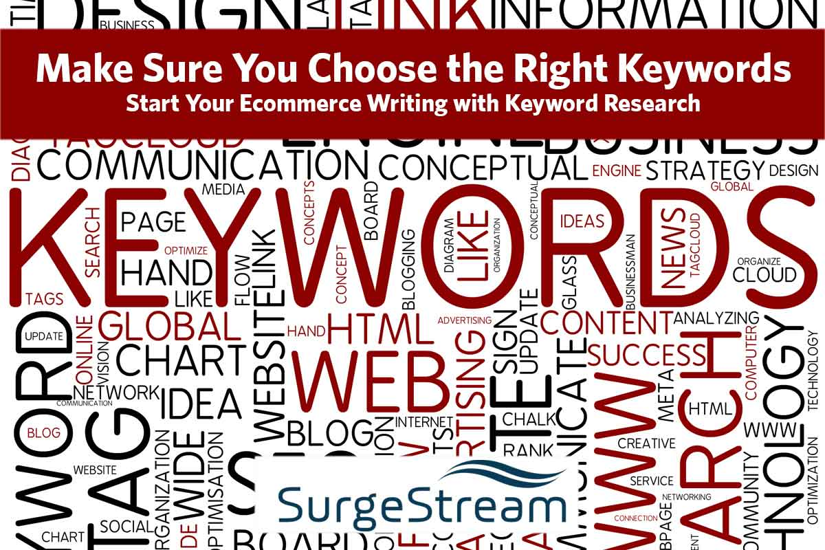 Ecommerce Writing and Keyword Research
