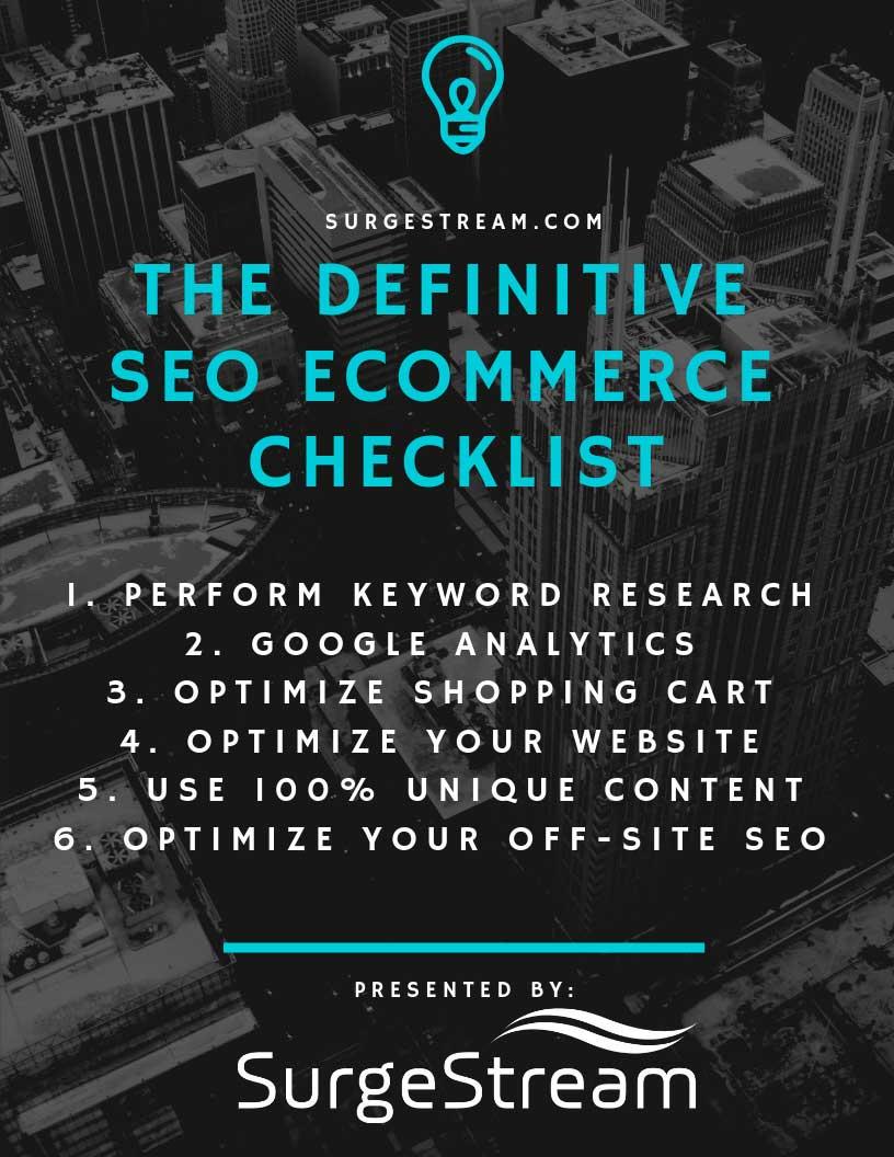 The Definitive SEO Ecommerce Checklist
