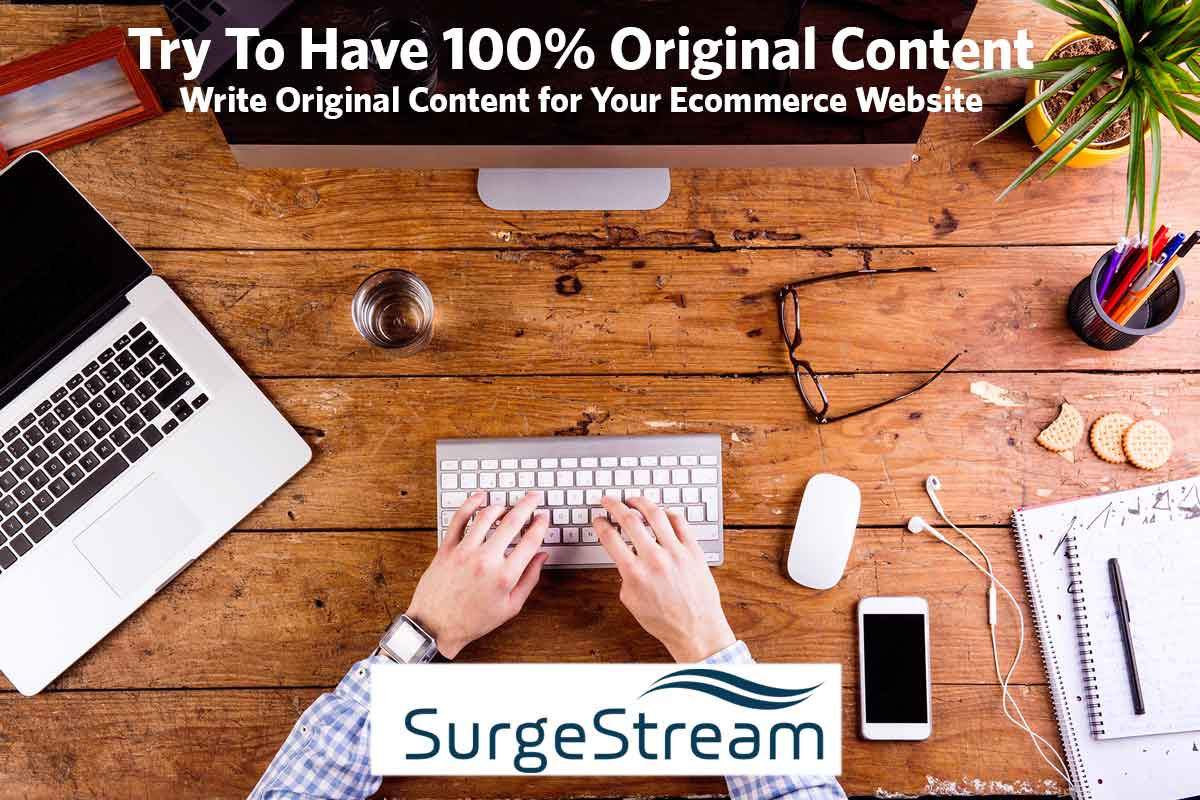 Write Original Content for Your Ecommerce Website