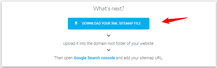 Download your Sitemap and upload it to your website