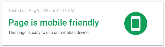 Mobile-Friendliness test