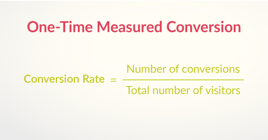 One-time Conversions Formula